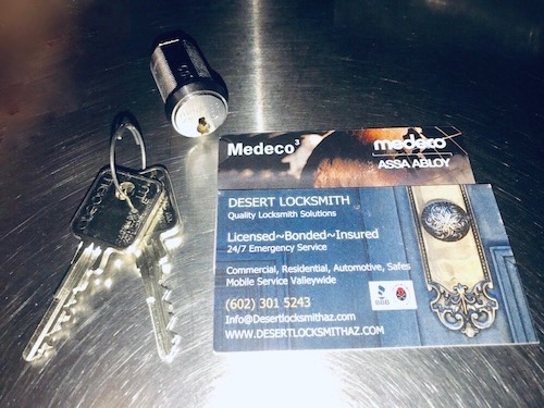 Medeco high security lock and keys