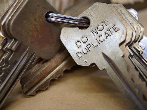 several do not duplicate keys